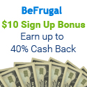 Get an average of 5% Cash Back at 2000+ Stores - BeFrugal.com