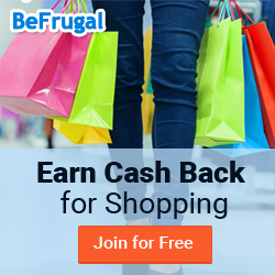 Get an average of 5% Cash Back at 3000+ Stores - BeFrugal.com