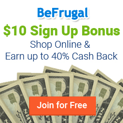 Join BeFrugal.com to Get Cash Back on Online Purchases, They Have the BEST Cash Back Percentages!
